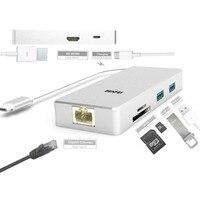 USB Type C Cable Adapter To HDMI RJ45 GIGABIT NETWORK USB 3 0 SOCKETS USB C