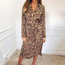 Женское леопардовое платье весенне осенние сексуальные бандажные