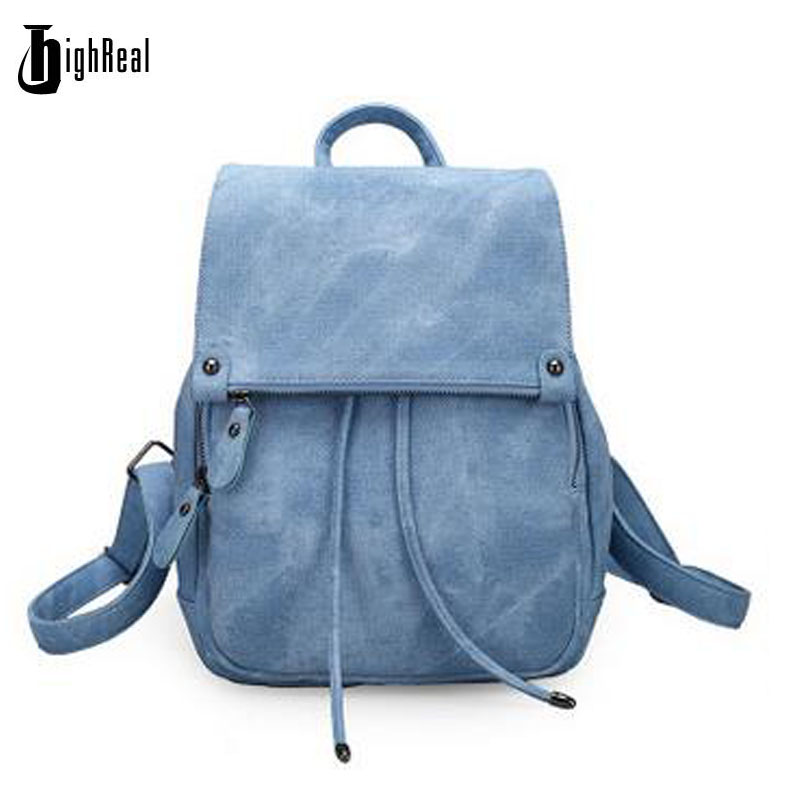 HIGHREAL Women Backpacks Women s PU Leather Backpacks Female School Shoulder bags Teenage Girls College Student