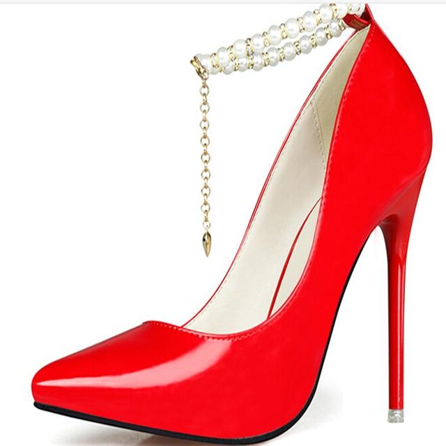 fbefa2666 Mulheres sapatos de casamento sapatos de salto alto mulher sapato feminino  donna scarpe chaussure femme scarpin