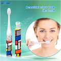 Seago Portable IPX 7 Waterproof Battery Powered Sonic Electric Toothbrush With Two Replaceable Brush Heads Teeth Whitening