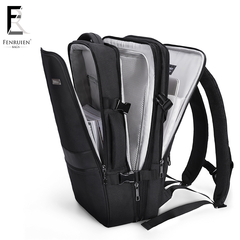 FENRUIEN New 17 inch Laptop Backpack Men Business Waterproof Backpack USB Charging Large Bag 15 Casual Travel Backpack Mochila