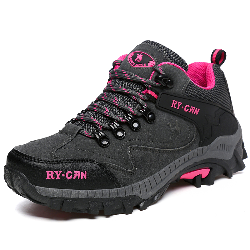 Ifrich Super Cool Sneakers Women Brand Purple Pink Ladies Mountain Climbing font b Boots b font