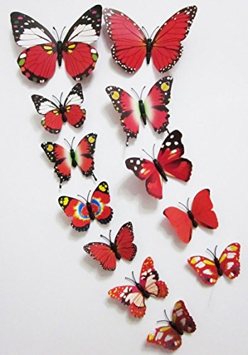 3D Butterfly 12PCS Stickers Making Stickers Wall Stickers Crafts Butterflies