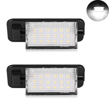 2Pcs 18SMD LED Number License Plate Lights No Error License Plate Blub Lights Very Bright White for BMW E36 318i 328i M3 image