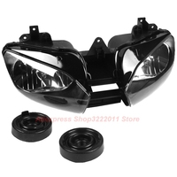 Clear Lens Motorcycle Plastic Front Light Lamp Case For YAMAHA R6 1998 1999 2000 2001 2002 Headlight Housing Set