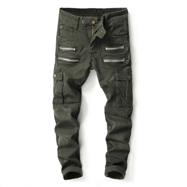 YUNY Mens Outwear Multi-Pockets Casual Loose Plus-Size Cargo Pant Black 37