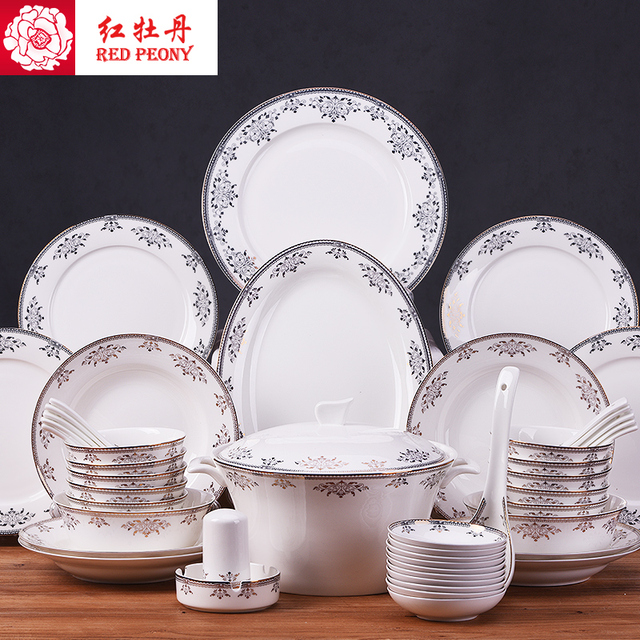 Tangshan 56 kopf bone china geschirr anzug Europäischen haushalt ...