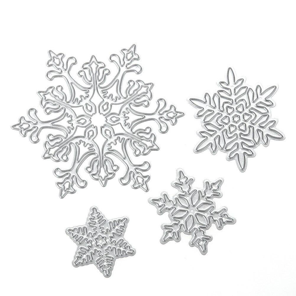 Pcs snowflake cutting dies christmas metal