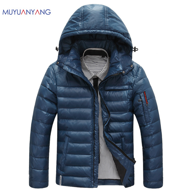 Aliexpress.com : Buy Warm Men's Down Jackets Slight Waterproof ...