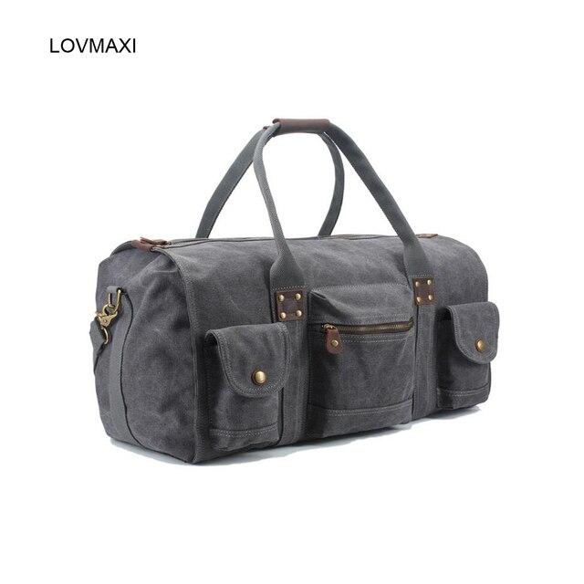 Новый мужской холст случайный большой дорожные сумки старинные моды большая дорожная сумка business messenger сумки
