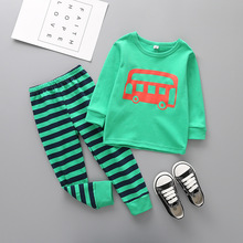 Здесь можно купить  Boys Sleepwear Full Sleeve Cotton boy clothing set Character Car Kids Pyjamas Spring Autumn  Children Pijamas set 12M-6 Years  Children
