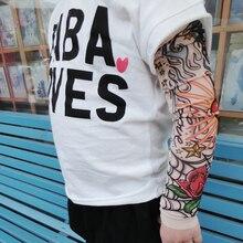 Дети шва тату рукава Дети Тату-рукава Поддельные рукава для татуировки боди арт 200 шт