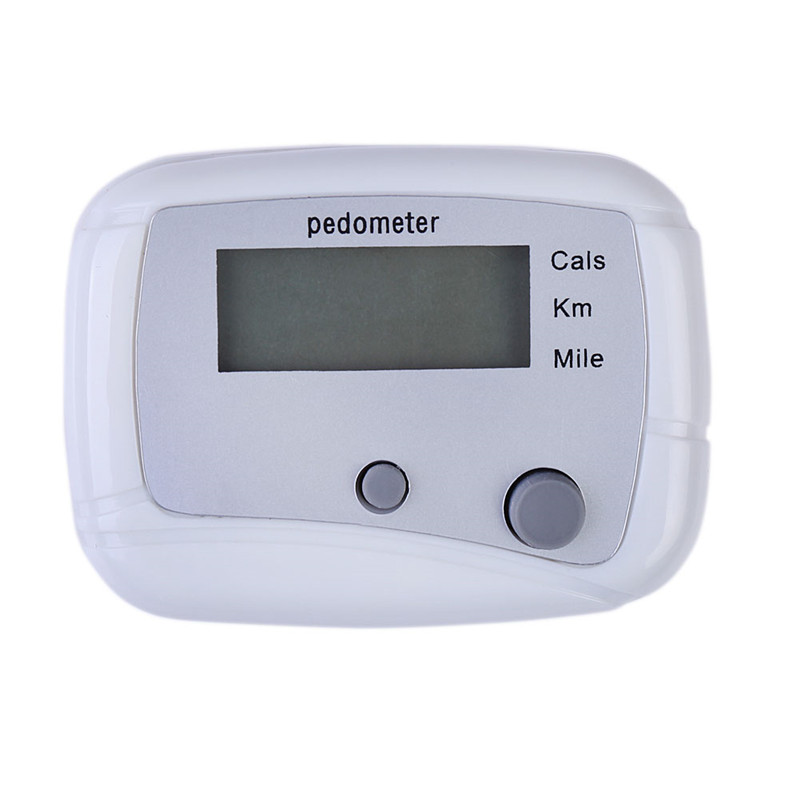 Hot Sale White Multifunction Pedometer Walking Distance Calorie Passometer Counter