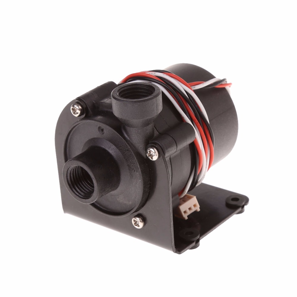 DC 12V Water Pump 500 L/H G1/4 Input And Output With Iron Bracket Pumps Accessories