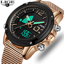 2019 Top Luxury Brand Gift LIGE Mens Watches Military Sport LED Waterproof Digital Watch Men Quartz WristWatch Relogio Masculino infantry military watch led digital wristwatch mens watches top brand luxury aviator army sport black silicone relogio masculino