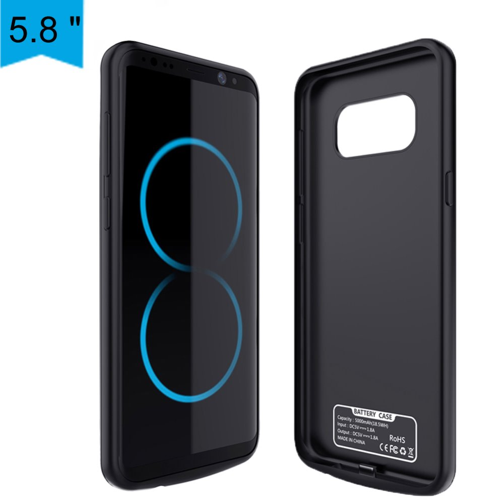 Battery Charger Case For Samsung Galaxy S8 5000Mah Energy Financial institution Case Exterior Backup Battery Charging Case Cowl Freeshipping