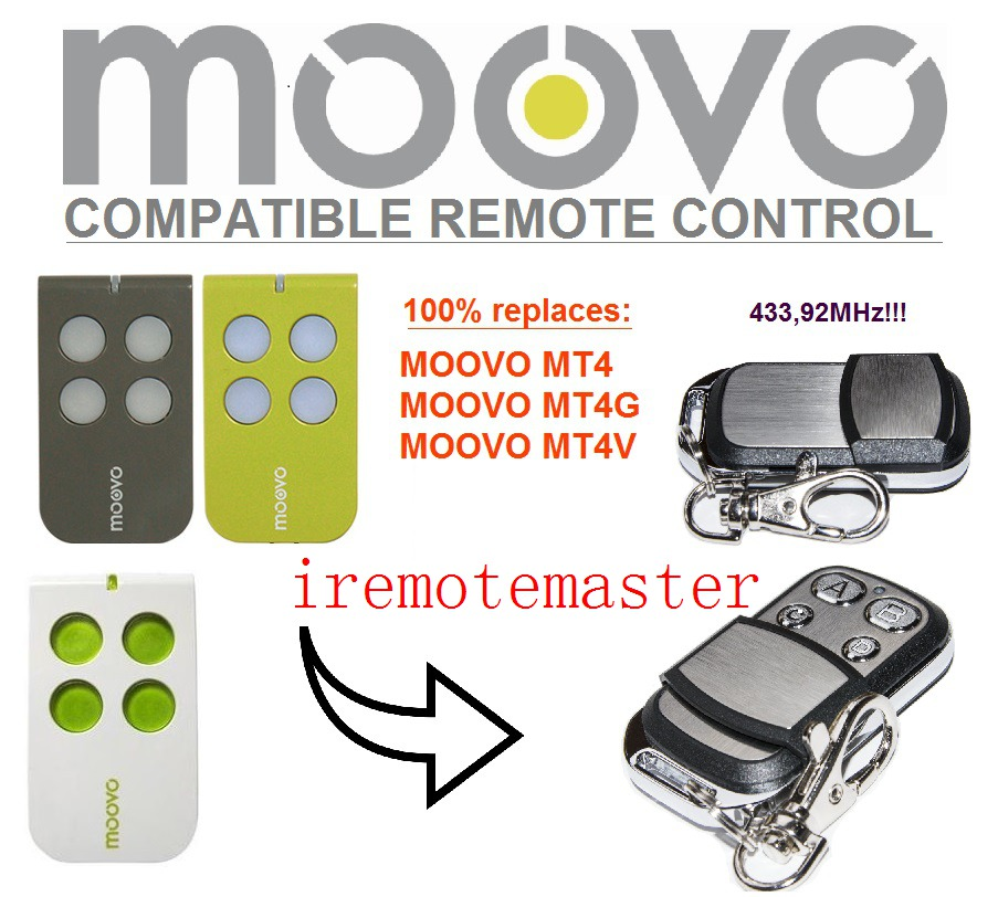 Moovo MT4,MT4G,MT4V Garage Replacement Remote Control Top Quality