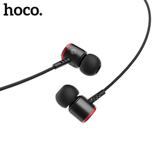 HOCO In ear Stereo Bass Earphones Headphones 3.5mm jack wired control HiFi Earbuds Headset for iPhone Xiaomi Mobile Phone