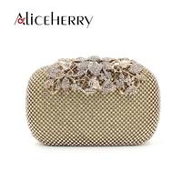 Aliceherry Luxury Handbags Women Bags Designer Fashion Women Evening Bags Ladies Diamond Wedding Clutch Party Purse