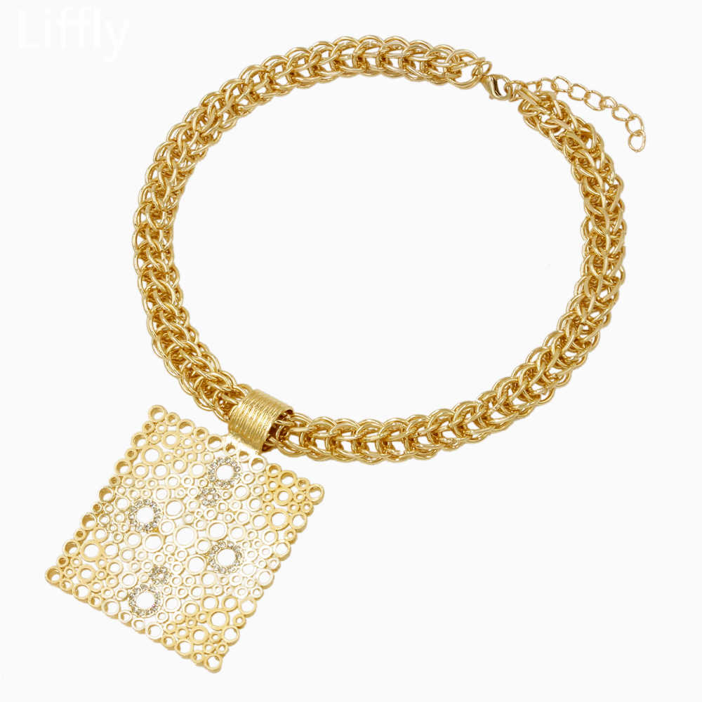 แฟชั่น 2019 รูปร่าง 18 Gold ชุดเครื่องประดับคริสตัลสร้อยคอสร้อยข้อมือแหวนครบรอบเครื่องประดับอุปกรณ์เสริมของขวัญ