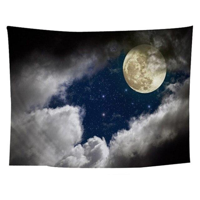 Mandala Polyester 150*130 Cm Langit Berbintang Pola Permadani Gantung Dinding Karpet Melempar Yoga Tikar untuk Rumah Dekorasi Kamar Tidur 227Z