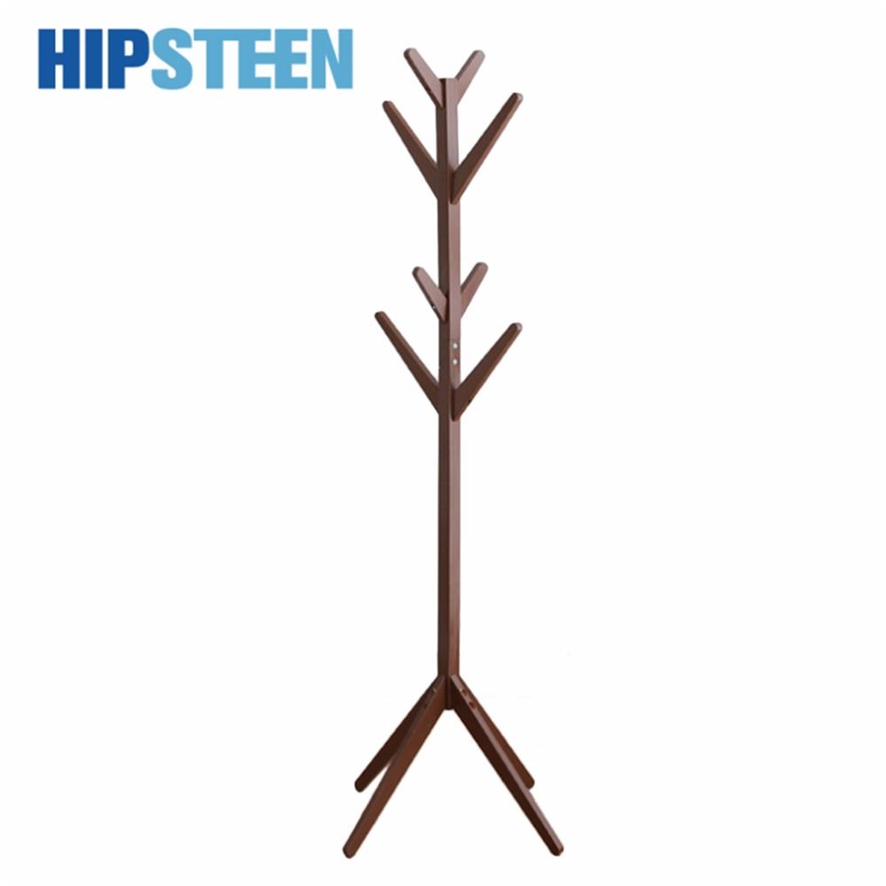 hipsteen creative demountable tree shape clothes floor hanger living room wood hat stand coat rack