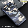 """2 in 1 Army Camo Camouflage Pattern Cover Hard Plastic And Soft TPU Armor Protective Phone Cases For Huawei Ascend P9 5.2""""  Case"""