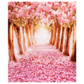 ETC 2*1.5m Fantastic Pink Flower Street Studio Photography Props Backdrop Background