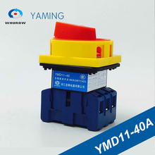 Isolator switch YMD11-40A load break universal power cut off on-off 40A 3P changeover cam 6 sliver contacts