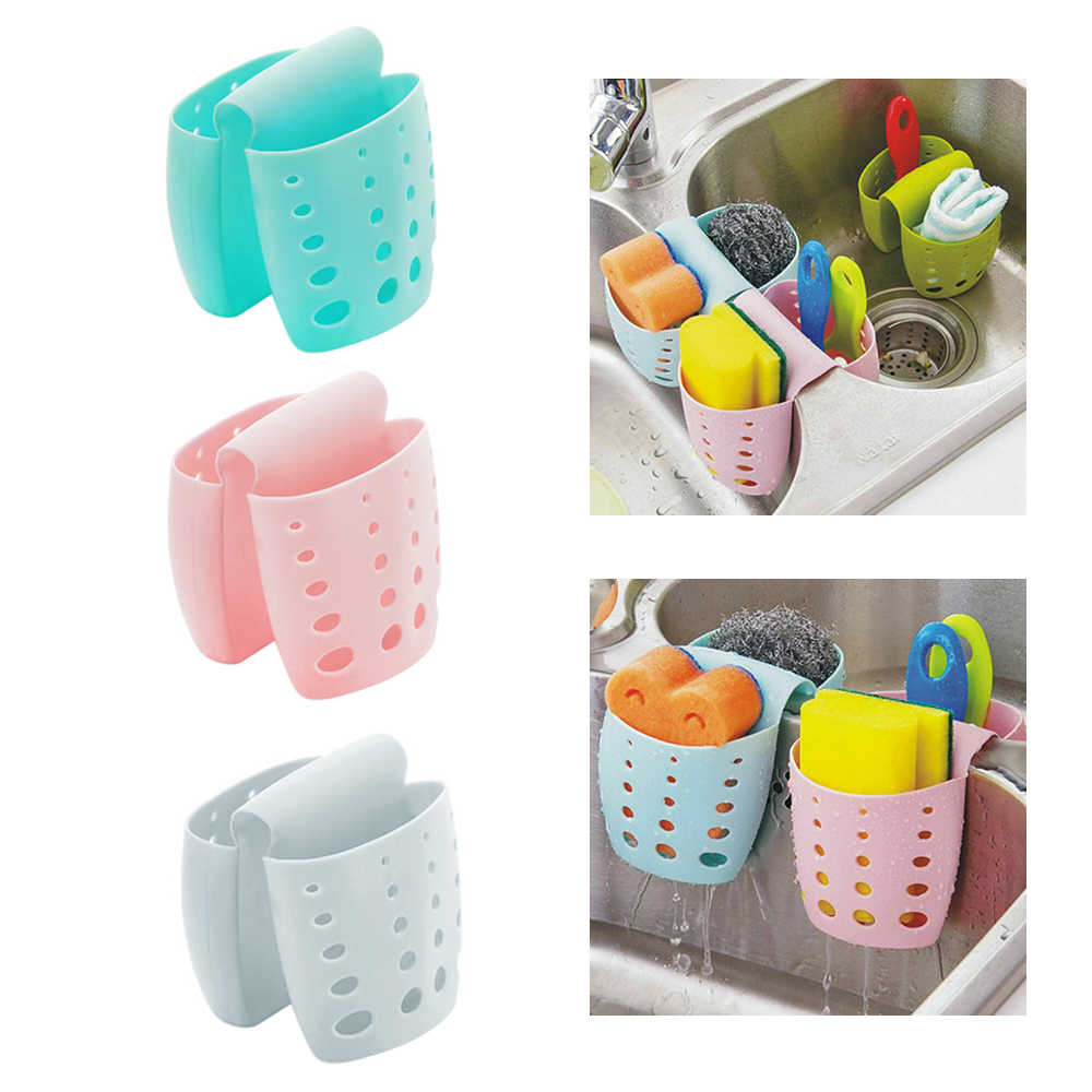 Sink Shelf Soap Sponge Drain Drainer Rack Bathroom Holder Kitchen Storage Suction Cup Organizer Sink kitchen Accessories Wash