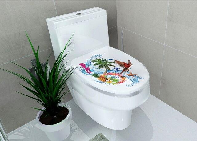 Leuke badkamer wc seat decoratieve films waterdichte voelde diy
