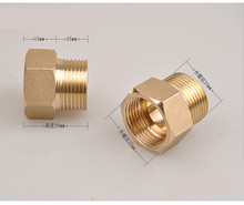 цена на High Quality Brass 3/4 Female BSP x 3/4 Male Thread  Coupling  Pipe Fittings