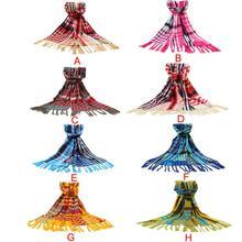 Fantastic Fashion Women s font b Tartan b font Scarf Shawl Stole Plaid Tassels Knitting Scarf