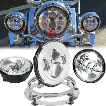 7 inch Motorcycle Daymaker Replacement Led Headlight,7 Headlight Mounting bracket, Fog Lights For Harley Davidson harley davidson headlight price