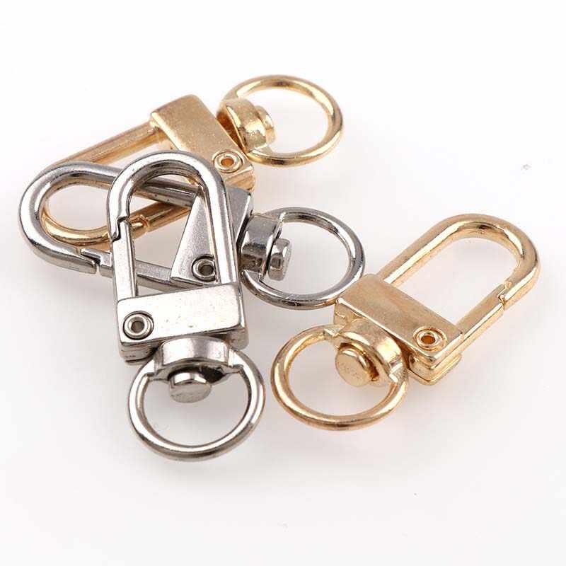 5 個の金属キーチェーンホルダースイベルトリガーロブスタークラスプスナップフックキーチェーンリング Diy クラフト屋外バックパックバッグ部品