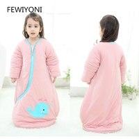 FEWIYONI 0 6 years old newborn sleeping bag winter warm children pajamas cotton blanket bedding baby one piece clothes