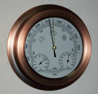 mechanical waterproof Aneroid Barometer Hygrometer Thermometer 225mm daimeter weather station home decoration gift