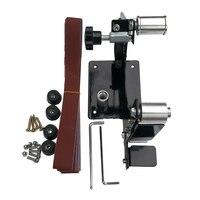 Portable Belt Sander DIY Polishing Sanding Electric Angle Grinder Woodworking Mini Metal Converting Adapter Tools M10 M14