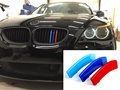 3D Car Grille Sport Stripe ABS Decal Sticker for 2008-2010 BMW 5 Series E60