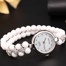 Luxury Lady 925 sterling Silver Watches Women Stainless Steel Wristwatches Beads Women Bracelet Watch Ladies Wrist Watch Female