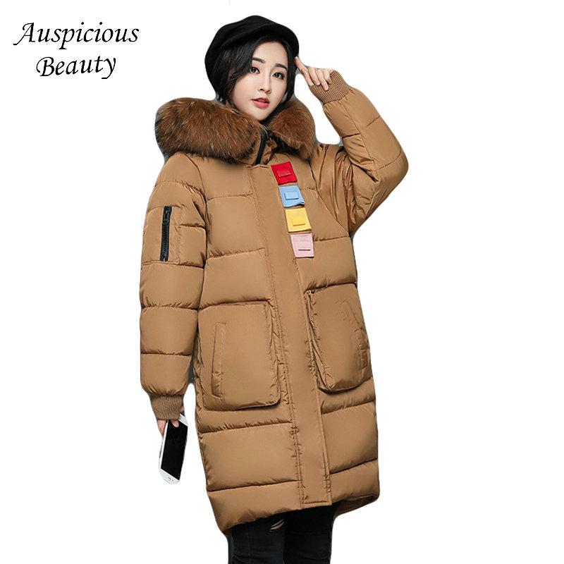High Quality Women Winter Parkas 2017 New Fashion Female Medium-long Loose Cotton-padded Wadded Jacket Coat Plus Size 3XL CXM206 high quality women winter parkas 2017 new fashion female medium long loose cotton padded wadded jacket coat plus size 3xl cxm206