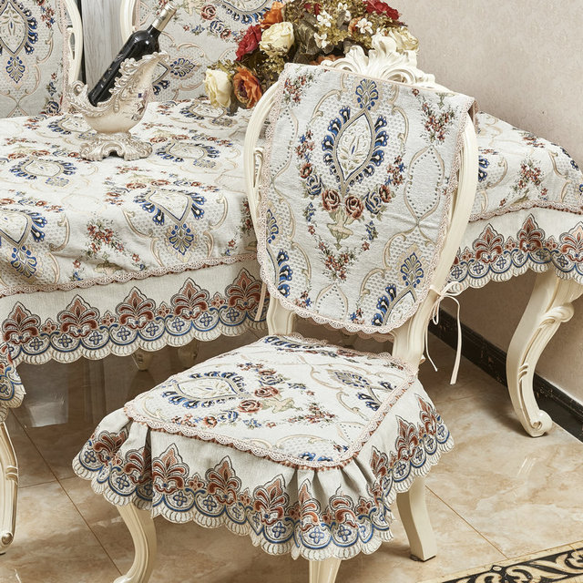 Mantel de estilo europeo de alta calidad tela de encaje con patrón ...