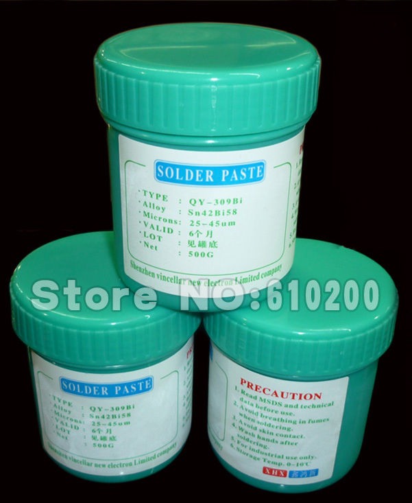 ФОТО Free shipping PCB SMT BGA Solder Flux Paste Soldering Tin Cream low temperature Lead-free SOLDER PASTE 500g Sn42/Bi58 138Celsius