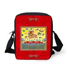 Купить с кэшбэком Cross body bag Chinese style Printing Messenger Bags for Men Women Hot Brand Small Cross Body Bags for Ladies Mens Travel Bags