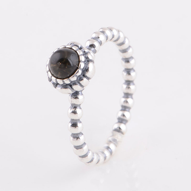 87131d259 Compatible with Pandora Style Fashion Jewelry 925 Sterling Silver Ring  Citrine November Birthstone Ring Vintage Style Party Ring