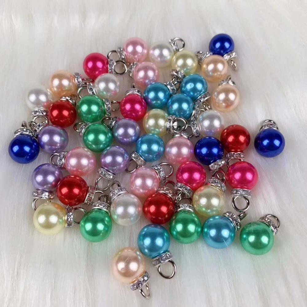 Artificial Pearl Color Pine Bead DIY Earrings Hand-made Without Holes And Beads ABS Foam Gummy Bear Accessories