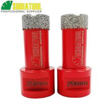 цена на Free -shipping 10pcs/pk  Red color Vacuum brazed diamond core bits with M14 connection, drilling bits