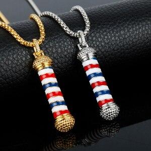 Трехмерная Подвеска для парикмахерской, роскошное длинное ожерелье на цепочке, сувенирное колье унисекс-30