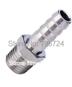 tube size 10mm-1/2 pt thread Hose Connector Male BSP Taper Thread brass Air Fittings
